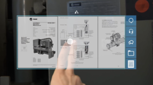 Atheer Air Field Service Augmented Reality UI & UX
